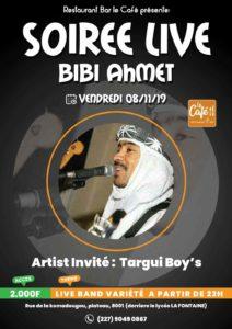 Création affiche soirée live Niamey